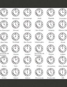 Carta da parati orologio e fumo azzurro fotomurale carta for Che ore sono a detroit