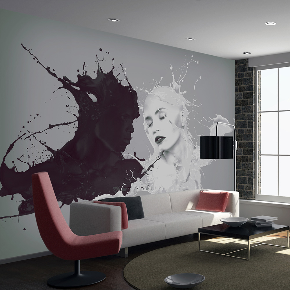 Unique black and white color harmony wallpaper