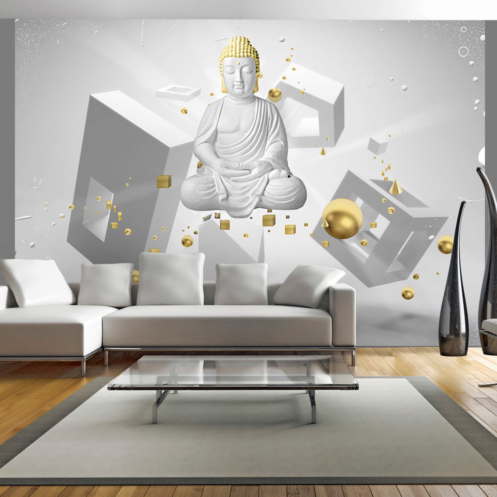 carta da parati buddha in 3d fotomurale carta parati. Black Bedroom Furniture Sets. Home Design Ideas