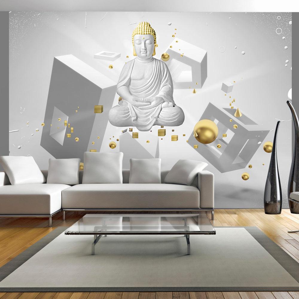 Carta da parati buddha in 3d fotomurale carta parati - Fototapete 3d effekt ...