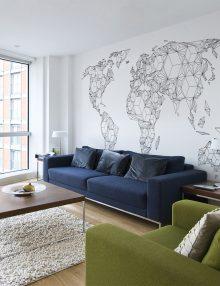 Carta da parati mappe del mondo il mappamondo da parete for Carta parati mondo