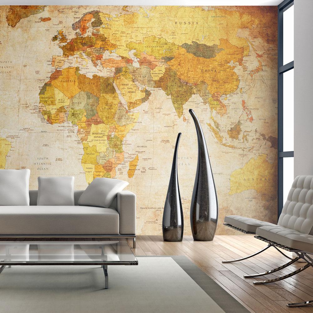 Cartina Mondo Muro