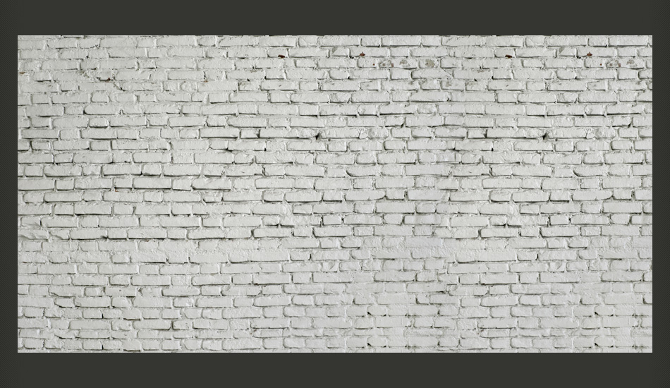 Carta da parati parete bianca con mattoncini fotomurale for Carta parati bianca