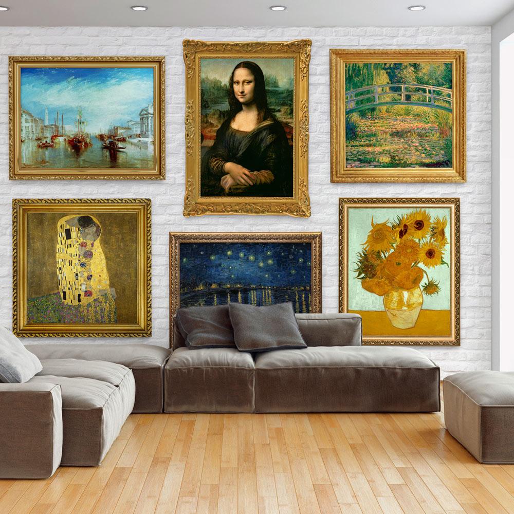 Carta da parati parete di quadri famosi fotomurale carta for Quadri parete