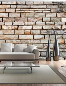 Carta da parati effetto mattone mattoni finti per il muro for Carta da parati effetto muro mattoni