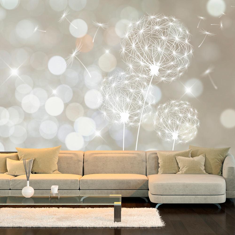 Carta da parati la perfezione dei soffioni fotomurale for Carta da parati decorativa moderna